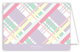 Pastel Plaid Note Card