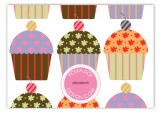 Pattern Cupcakes Enclosure Card