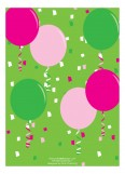 Patterned Pink Balloons Photo Invitation