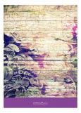 Marsala Purple Distressed Floral Party Invitation