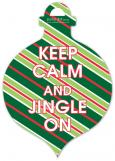 Traditional Keep Calm And Jingle On Ornament Invitation