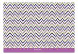 Chevron And Dot Radiant Orchid Photo Card