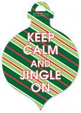 Traditional Keep Calm And Jingle On Ornament Photo Card