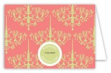 Peach Chandelier Folded Note Card