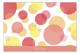 Peach Pink Dots Flat Note Card