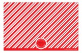 Peppermint Stripes Initial Photo Card