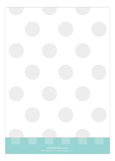 Perfect In Polka Dots Blue Photo Card