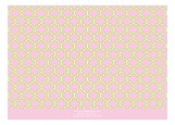 Pink and Green Preppy Pattern Photo Card