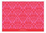 Pink And Orange Brocade Grad Photo Card
