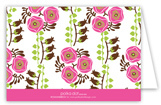 Pink Bells of Ireland Folded Note Card