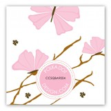 Pink Butterfly Landing Gift Tag