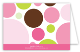 Pink Chocolate Lime Dots Note Card