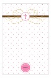 Pink Cross Pendant Invitation