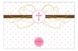Pink Cross Pendant Photo Card