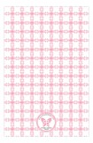 Pink Cross Tile Pattern Baptism Invitation