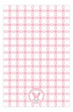 Pink Cross Tile Pattern Photo Card