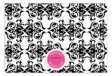 Pink Damask Flat Custom Note Cards
