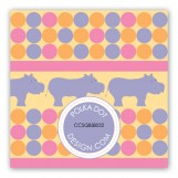 Pink Hippos Gift Tag