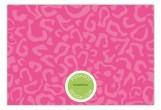 Pink Leopard Flat Note Card
