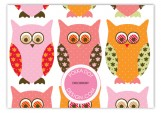 Pink Pattern Owls Enclosure Card