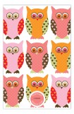 Pink Pattern Owls Invitation