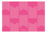 Pink Pennant Photo Card