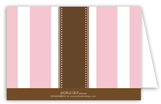 Pink Stripe Cross Folded Note Card