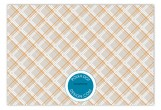 Plaid Damask Pop Flat Note Card