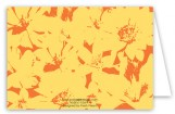 Pop Art Flowers Yellow Note Card