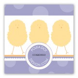 Purple Polka Dot Chicks Gift Tag
