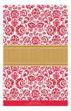 Double Rounded Red Floral