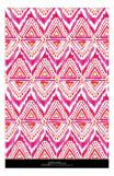 Watercolor Ikat Hot Pink Orange