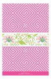 Geometric Pink With Floral Band