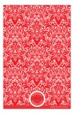 Red Damask Band Photo Card