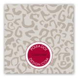 Red Leopard Duo Gift Tag