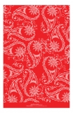Red Pretty Pasley Photo Card
