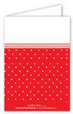 Red Shoe with Red Dots Folded Note Card