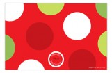 Red White and Green Dots Photo Card