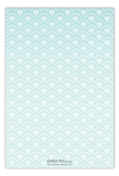 Rising Sun Turquoise Flat Note Card