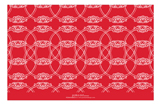 Round Emblem Red Photo Card