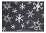 Seasons Greetings Snowflakes Photo Card