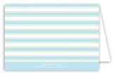 Simple Blue Stripes Folded Note Card