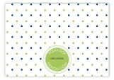 Simply Navy Border Enclosure Card