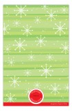 Snowflakes on Green Photo Card