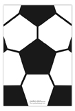 Soccer Banner Flat Note Card