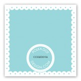 Spring Scalloped Aqua Gift Tag