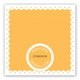 Spring Scalloped Citrus Gift Tag
