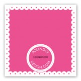 Spring Scalloped Pink Gift Tag