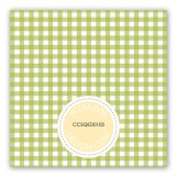 Springtime Gingham Gift Tag