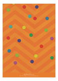 Sprinkles and Confetti - Orange Invitation